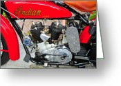 V Twin Greeting Cards - Red Indian Greeting Card by David Lee Thompson