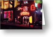 Most Favorite Photo Greeting Cards - Red light district Amsterdam Greeting Card by Evgeny Ivanov