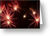 Pyrotechnics Greeting Cards - Red lily Greeting Card by Agusti Pardo Rossello