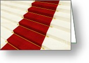 Award Greeting Cards - Red Luxury Carpet Greeting Card by Gualtiero Boffi