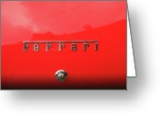 Enzo Ferrari Greeting Cards - Red Mist Greeting Card by Darin Bastedo