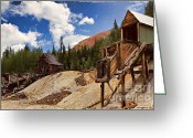 Old Mines Greeting Cards - Red Mountain Mining - The Loader Greeting Card by Lana Trussell