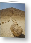 Arid Climate Greeting Cards - Red Path Of Red Pyramid Greeting Card by © Marc Mateos