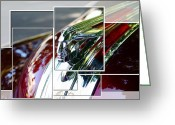 Pdx Art Greeting Cards - Red Pontiac Hood Ornament Greeting Card by Cathie Tyler