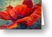 Autumn Painting Greeting Cards - Red Poppy III Greeting Card by Marion Rose