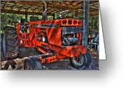 Sheds Greeting Cards - Red Rider Greeting Card by Joetta West