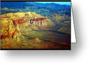 Landscape Posters Greeting Cards - Red Rock Canyon Poster print Greeting Card by James Bo Insogna