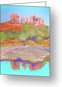 West Pastels Greeting Cards - Red Rock Crossing Sedona Greeting Card by Dan Scannell