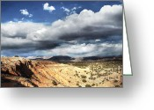 Western Sky Greeting Cards - Red Rock Day Greeting Card by Andrea Hazel Ihlefeld