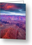 Canyon Greeting Cards - Red Rock Dusk Greeting Card by Mike  Dawson
