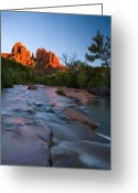 Sedona Greeting Cards - Red Rock Sunset Greeting Card by Mike  Dawson