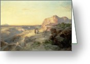 Thomas Moran Greeting Cards - Red Rock Trail Greeting Card by Thomas Moran