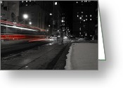 Trolley Greeting Cards - Red Rocket Greeting Card by Andrew Fare