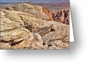 Tans Greeting Cards - Red Rocks Canyon View Greeting Card by Kelley King