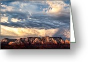 Red Rocks Greeting Cards - Red Rocks of Sedona Greeting Card by David Bowman
