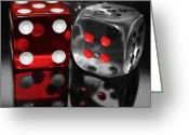 Selective Color Greeting Cards - Red Rollers Greeting Card by Shane Bechler