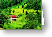 Lyle  Huisken Greeting Cards - Red Roof Greeting Card by Lyle  Huisken