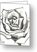 Gray-scale Greeting Cards - Red Rose Greeting Card by Kip DeVore