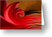 Linda-sannuti Art Greeting Cards - Red Sea Greeting Card by Linda Sannuti
