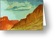 Photographs Painting Greeting Cards - Red Sedona Greeting Card by Julie Lueders