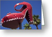 Nevada Greeting Cards - Red shoe high heels Greeting Card by Garry Gay