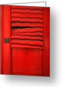 Puerto Rico Greeting Cards - Red Shutter Greeting Card by Timothy Johnson