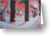 Oldgrowth Greeting Cards - Red Sierra Greeting Card by Joshua Bales