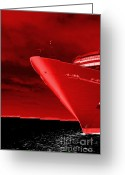 Triangle Greeting Cards - Red Sky at Morning ... Sailors Take Warning Greeting Card by Luke Moore