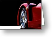 Red Sportscar Greeting Cards - Red Stallion Greeting Card by Peter Chilelli