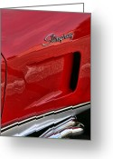 Big Block Chevy Greeting Cards - Red Stingray Greeting Card by Gordon Dean II