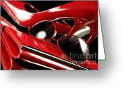 High Colour Vivid Color Greeting Cards - Red Stylish Accessories Greeting Card by Oleksiy Maksymenko