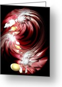 Rage Greeting Cards - Red Tides Greeting Card by Anastasiya Malakhova
