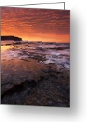 Red Bay Greeting Cards - Red Tides Greeting Card by Mike  Dawson