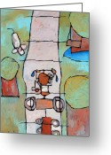 Shovel Greeting Cards - Red Trike Greeting Card by Charlie Spear