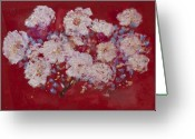 Oyster Mixed Media Greeting Cards - Red Trilium  Greeting Card by Don  Wright