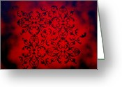 Product Painting Greeting Cards - Red Velvet by MADART Greeting Card by Megan Duncanson