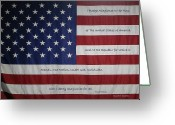 Fifty Stars Greeting Cards - Red White and True Greeting Card by DigiArt Diaries by Vicky Browning