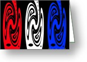 Digital Image Greeting Cards - Red White or Blue... Greeting Card by Kaye Menner