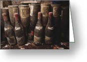 Mold Greeting Cards - Red Wine Bottles, Covered With Mold Greeting Card by James L. Stanfield