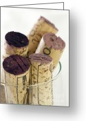 Macro Greeting Cards - Red wine corks Greeting Card by Frank Tschakert