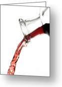 Splashes Greeting Cards - Red wine Greeting Card by Frank Tschakert