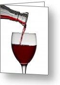 Splash Greeting Cards - Red Wine Greeting Card by Gert Lavsen
