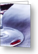 Photos Still Life Greeting Cards - Red wine glass Greeting Card by Frank Tschakert