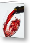 Pouring Greeting Cards - Red Wine Pour Greeting Card by Garry Gay