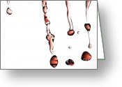 Kitchen Photos Greeting Cards - Red Wine Splash Greeting Card by Frank Tschakert