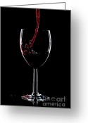 Pouring Greeting Cards - Red wine splash Greeting Card by Richard Thomas