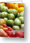 Vibrant Colors Greeting Cards - Red Yellow Green Greeting Card by Alan Todd