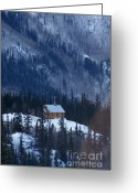 Original Equine Portrait Photo Greeting Cards - Redcloud Chapel in Blue Greeting Card by David Ackerson