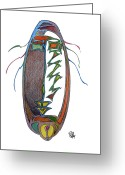 Aboriginal Art Drawings Greeting Cards - Redemption Greeting Card by Dan Daulby