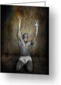 Lad Greeting Cards - Redemption Greeting Card by Michael Taggart
